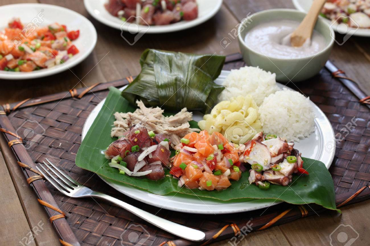 hawaiian traditional plate lunch Stock Photo - 45214990