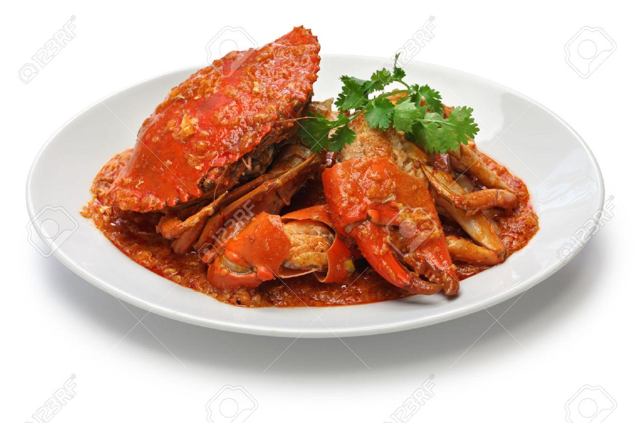 singapore chili crab isolated on white background Stock Photo - 46668375