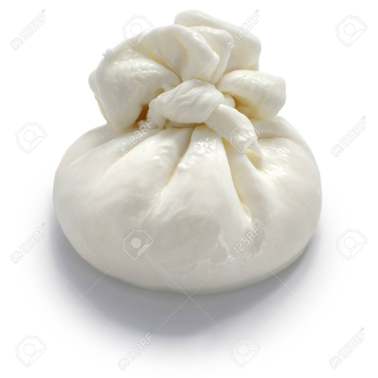 burrata is a fresh italian cheese made from mozzarella and cream. Stock Photo - 46729974