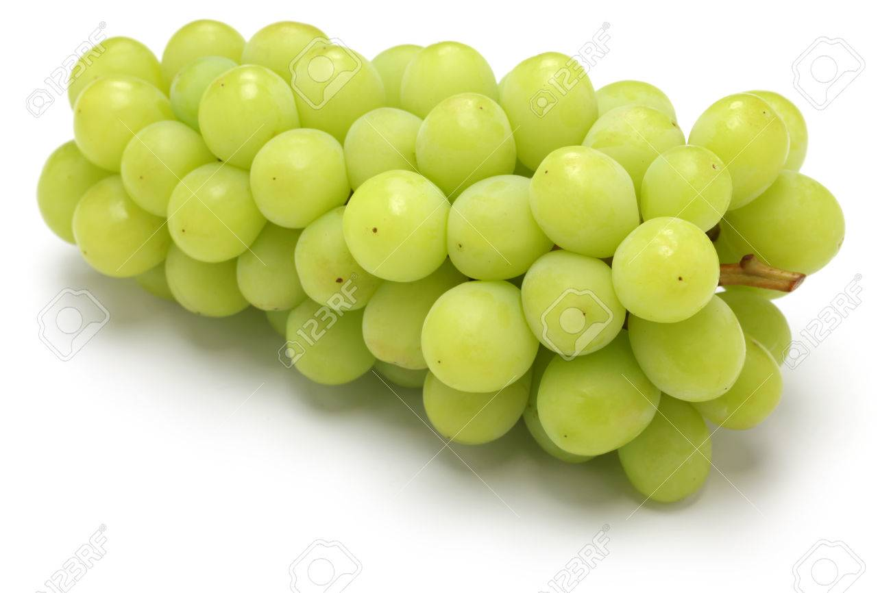 Shine muscat, japanese new variety grape isolated on white background Stock Photo - 47109424