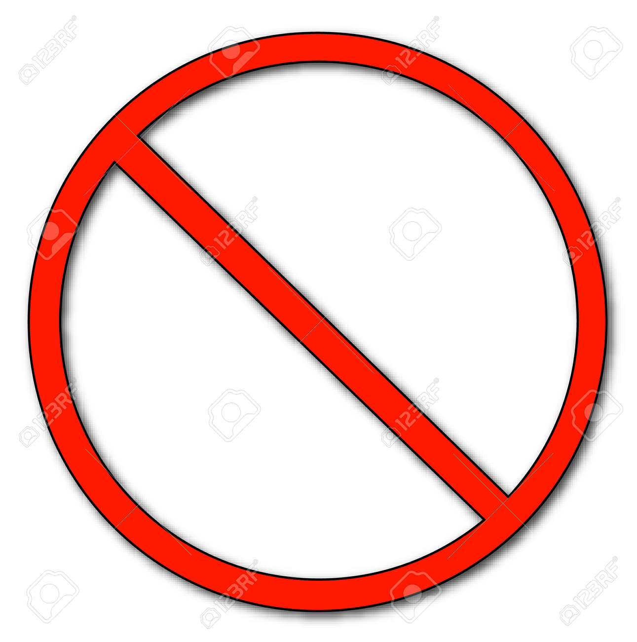 red no or not allowed symbol - vector Stock Vector - 2516375