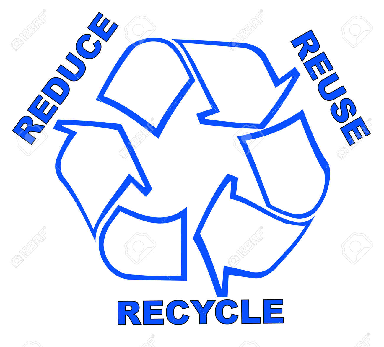 Recycle Symbol With Words Reduce Reuse Recycle Royalty Free Cliparts