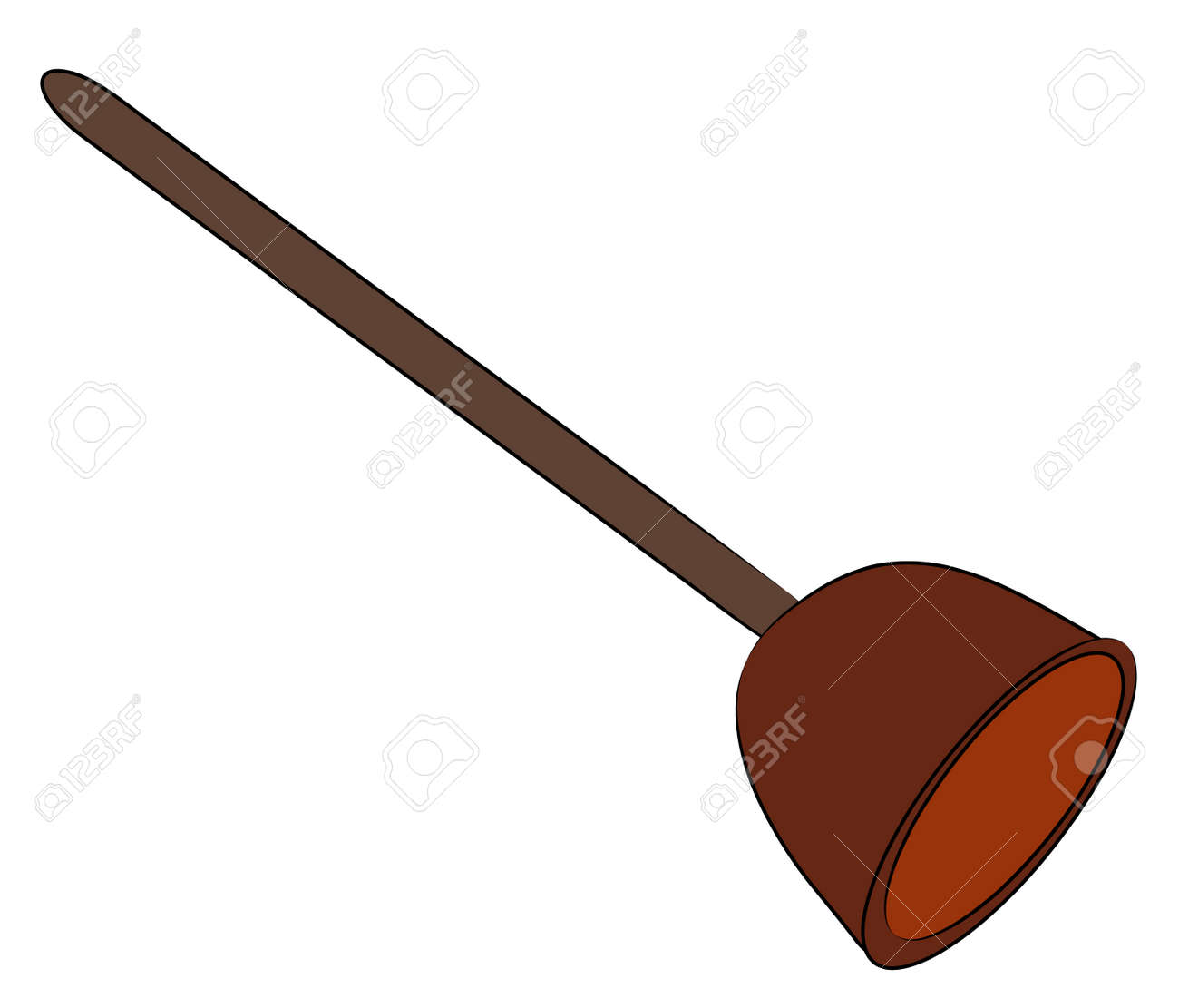 toilet bowl plunger   vector Stock Vector   2603217. Toilet Bowl Plunger   Vector Royalty Free Cliparts  Vectors  And