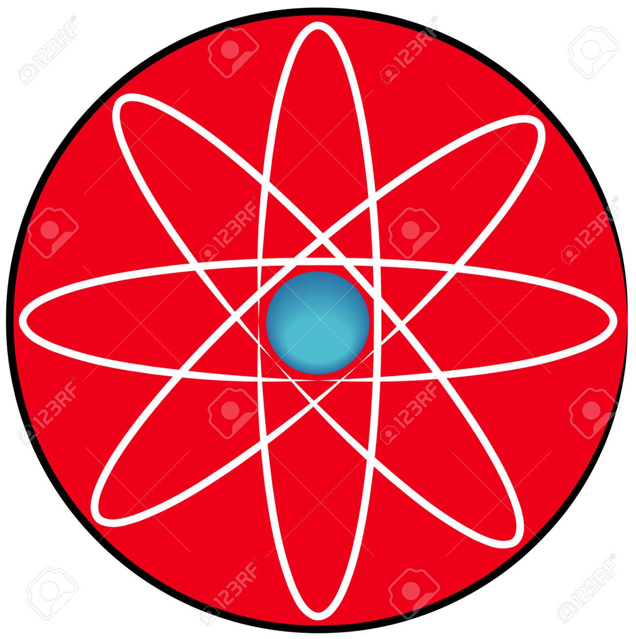 molecular atom symbol or button - vector Stock Vector - 2612515