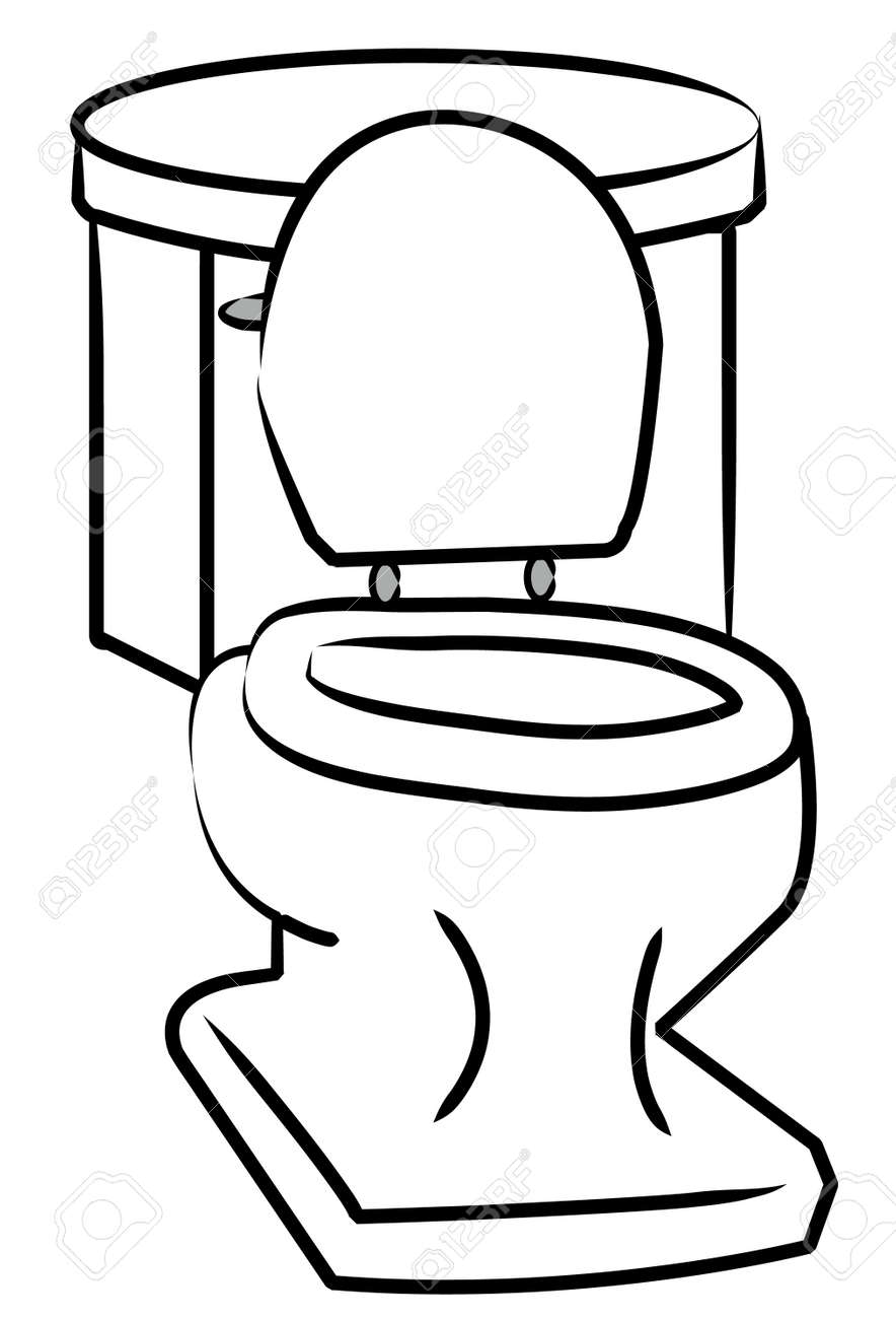 Vector white toilet with the seat left open vector  White Toilet With The  Seat Left. Toilet Vectors   Descargas Mundiales com