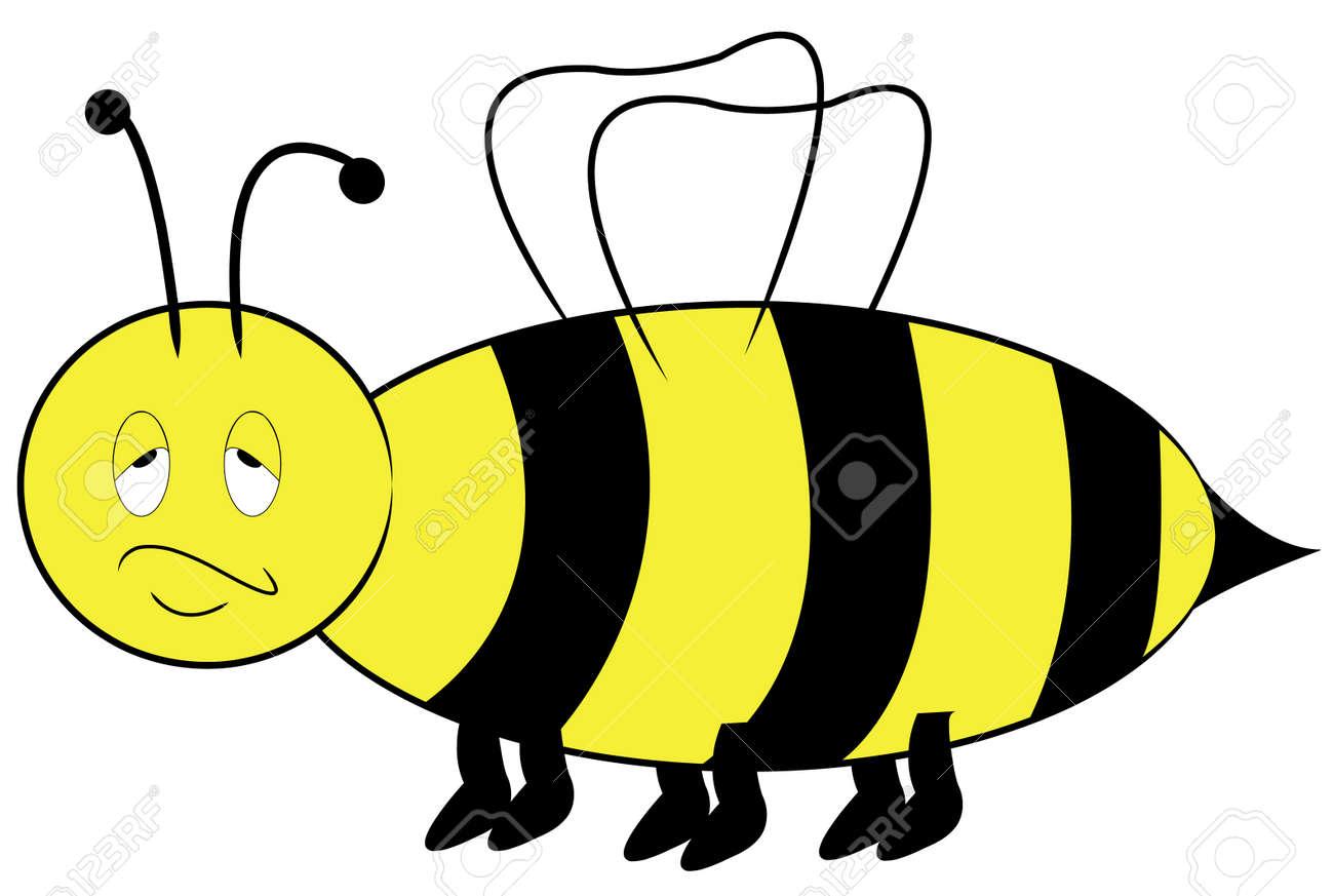 Amarillo Y Negro Con Abeja Molesto Aburrido Expresión - Vector ...