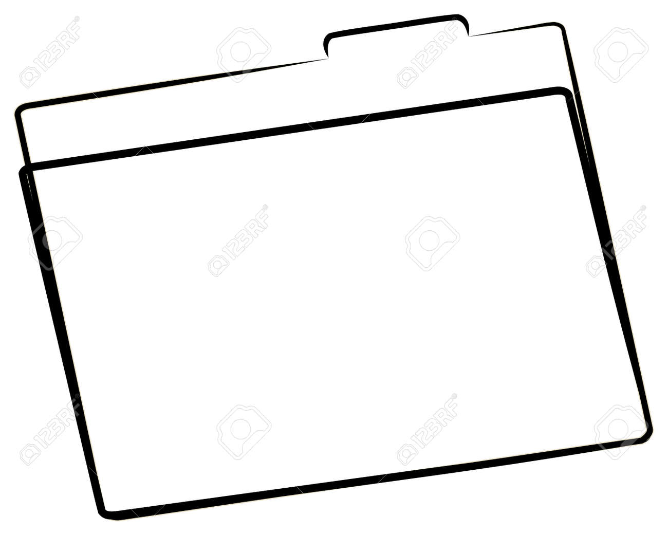 office file folder or manila folder outline - vector Stock Vector - 2704156