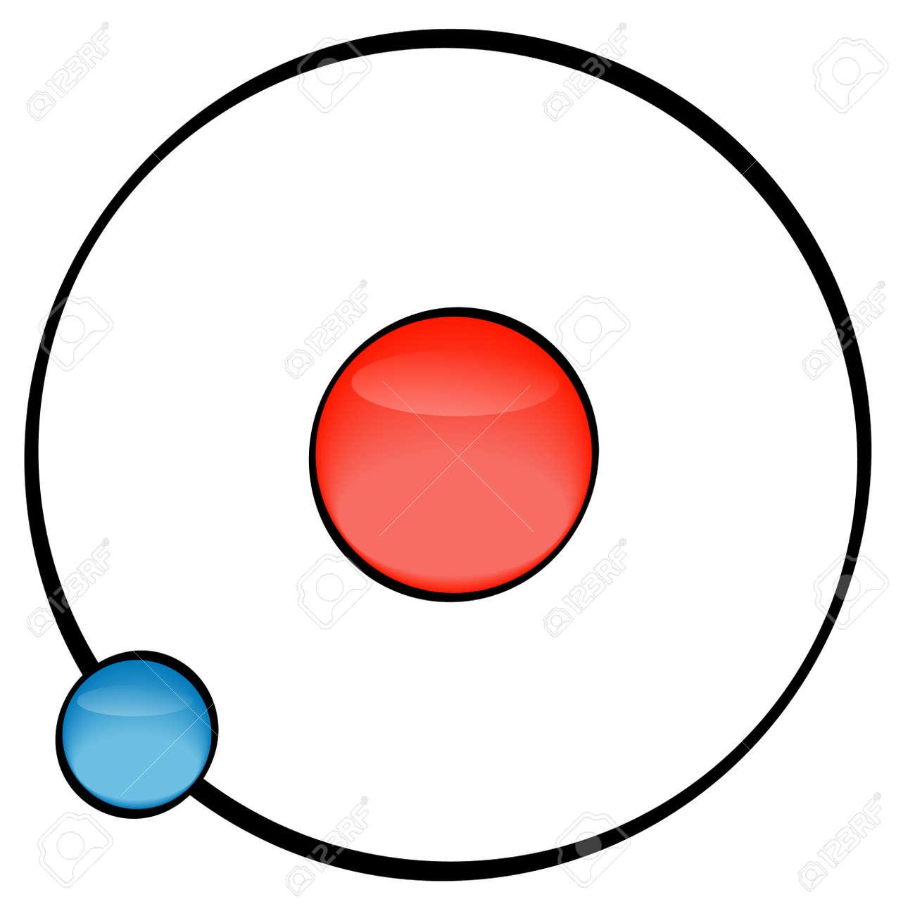 illustration of an atom on white background - vector Stock Vector - 2752110