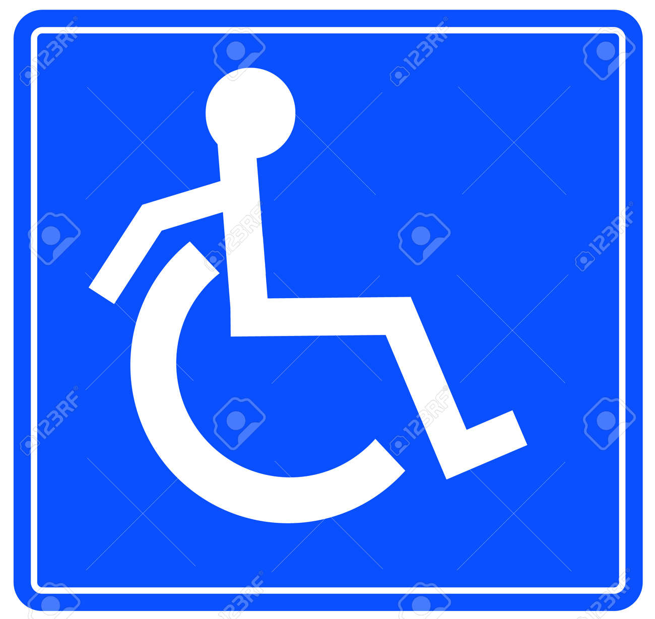 handicap or wheelchair accessible sign with person on the move - vector Stock Vector - 2775802