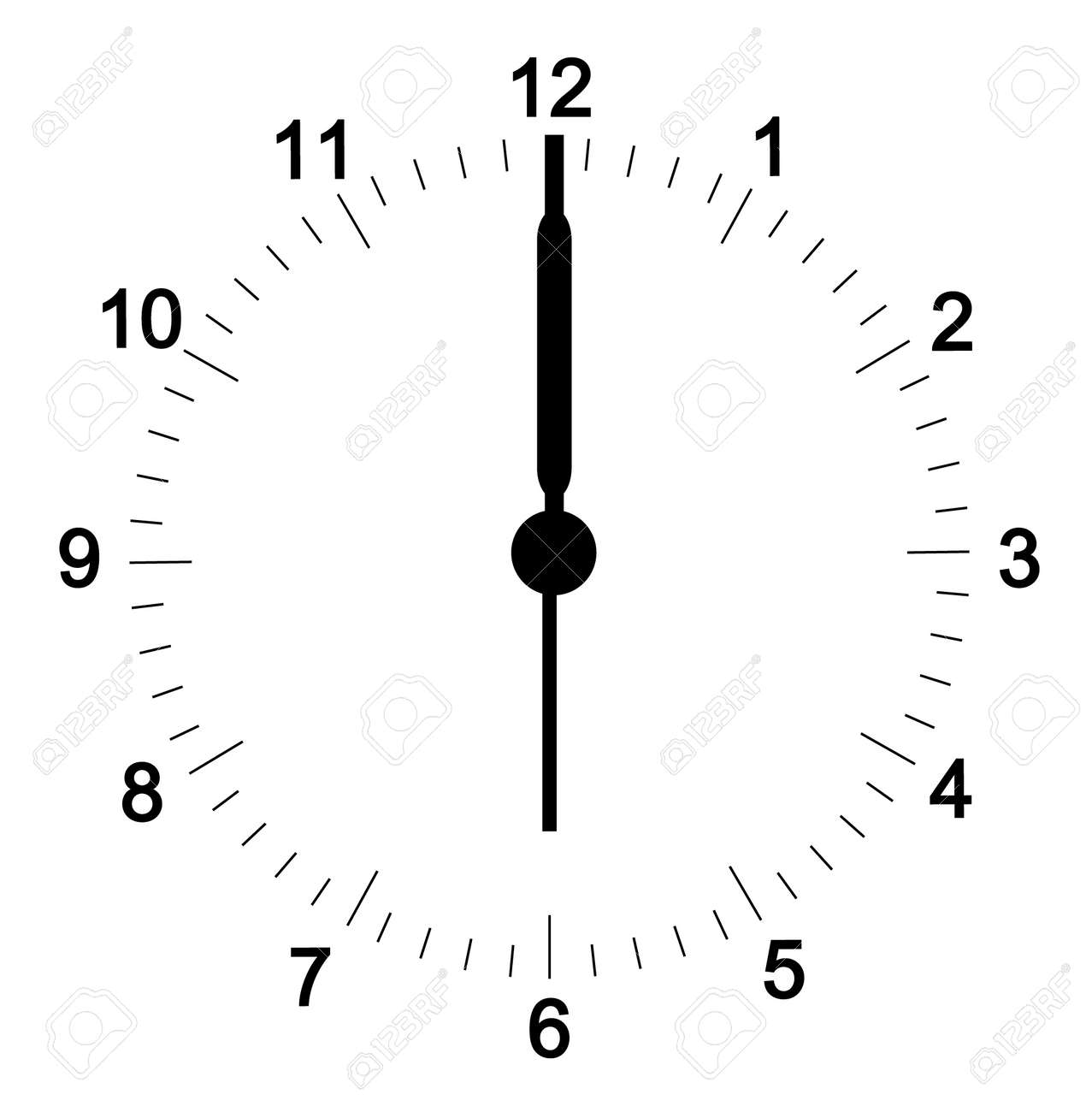clock face with minutes set at six o clock hands can be adjusted rh 123rf com free vector clock hands Vector Clock Icon