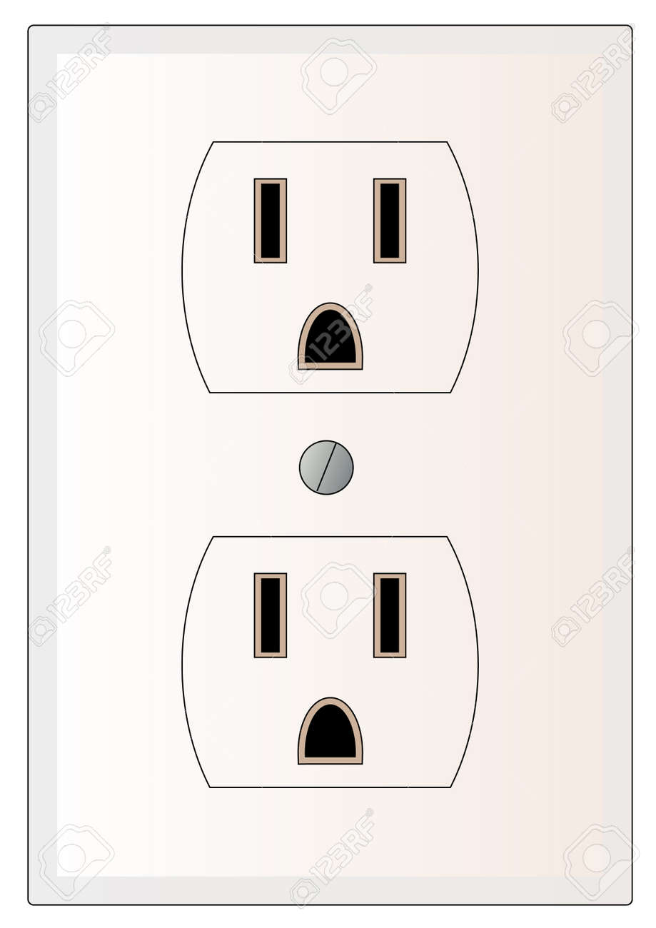 Grounded Electric Or Power Outlet - Vector Royalty Free Cliparts ...