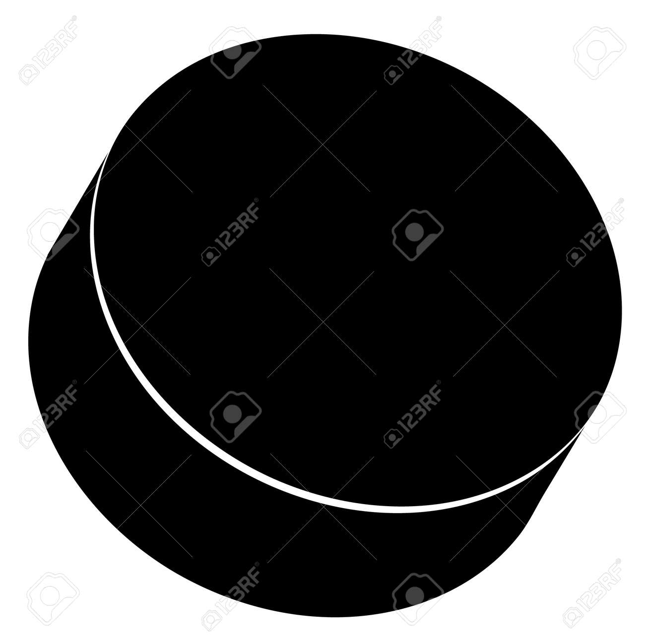 outline of a black hockey puck vector royalty free cliparts rh 123rf com hockey puck clipart black and white Cartoon Hockey Puck