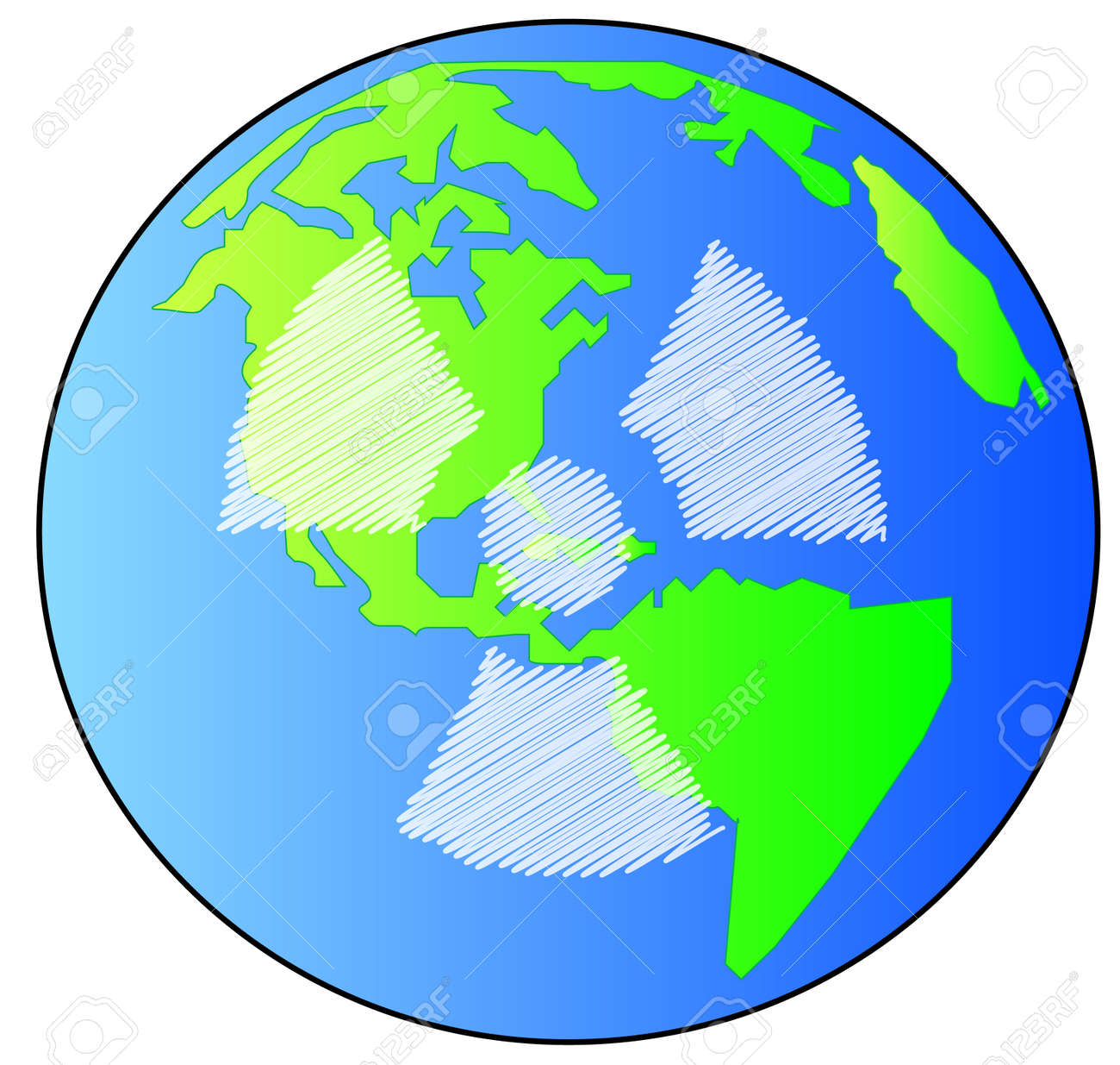 earth or globe with radio active symbol on it - vector Stock Vector - 2924524