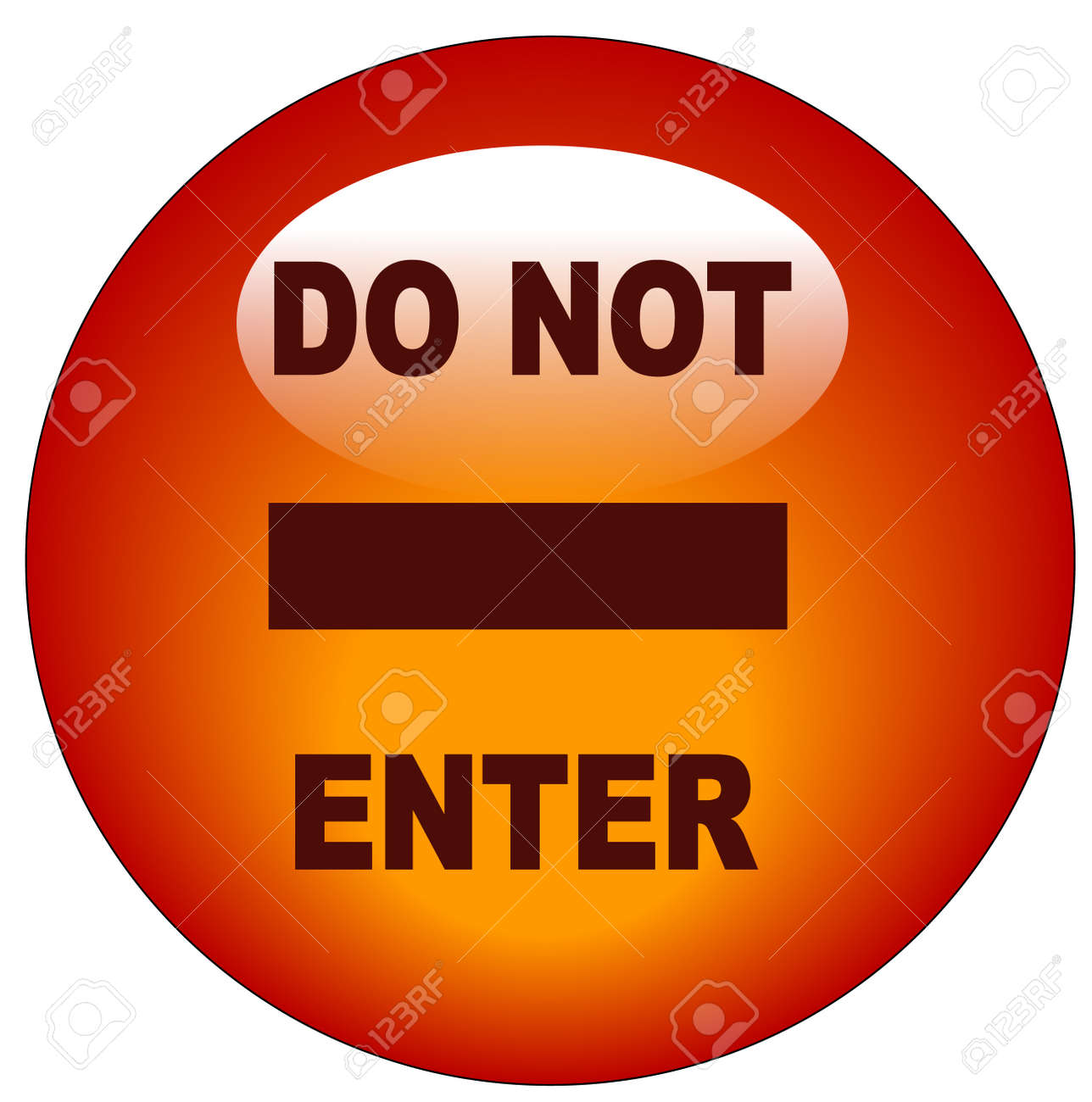 red do no enter web button or icon - vector Stock Vector - 3108987