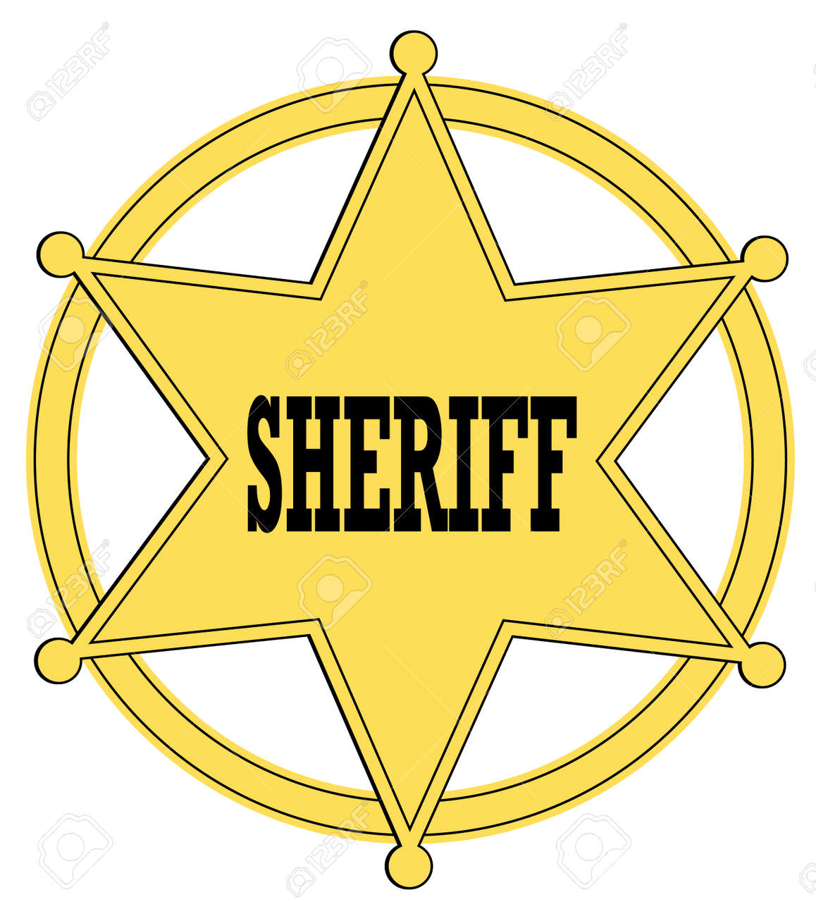 gold star sheriff badge from the old west vector royalty free rh 123rf com sheriff badge clipart vector county sheriff badge vector