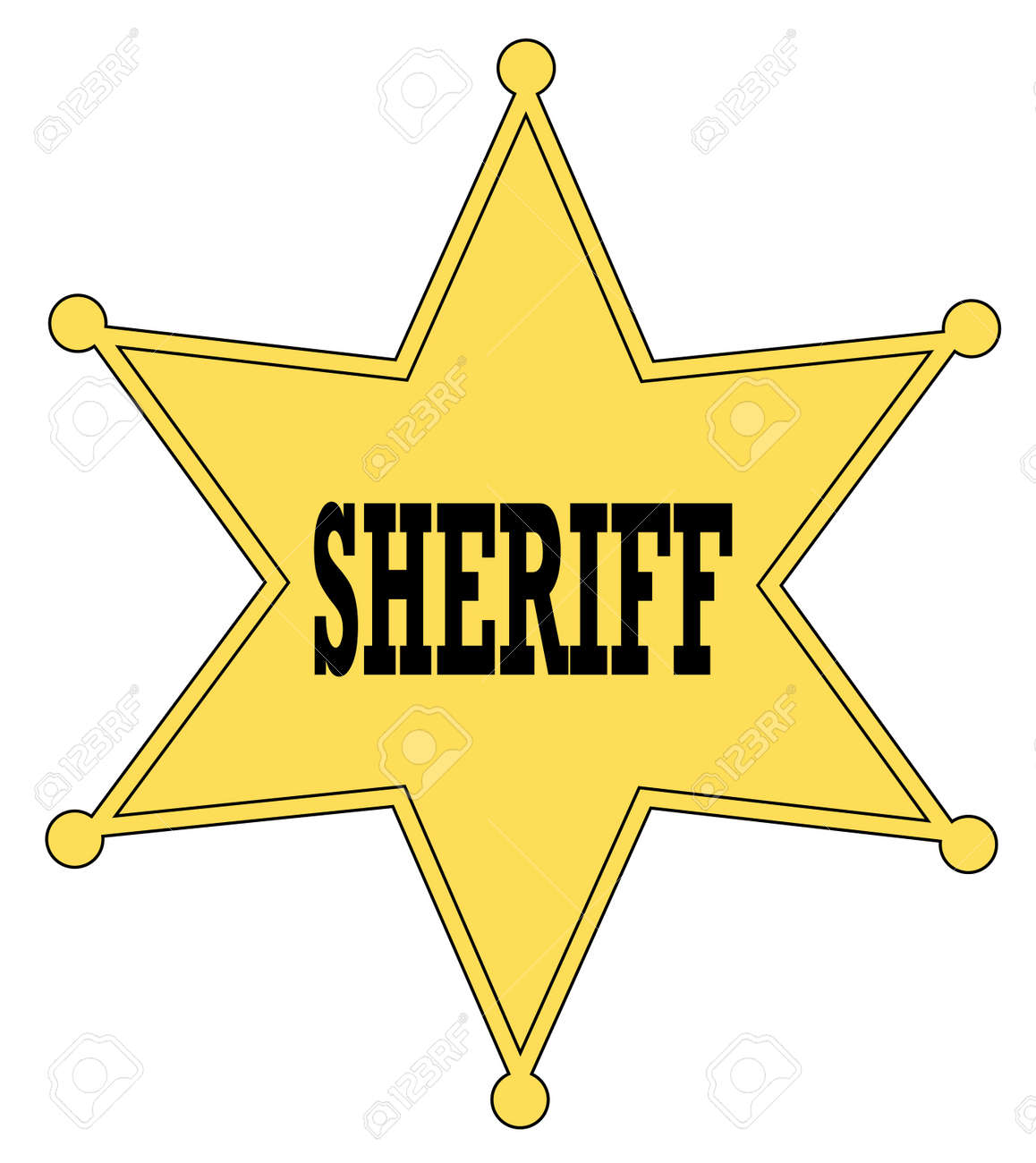 Gold Star Sheriff Badge From The Old West - Vector Royalty Free ...