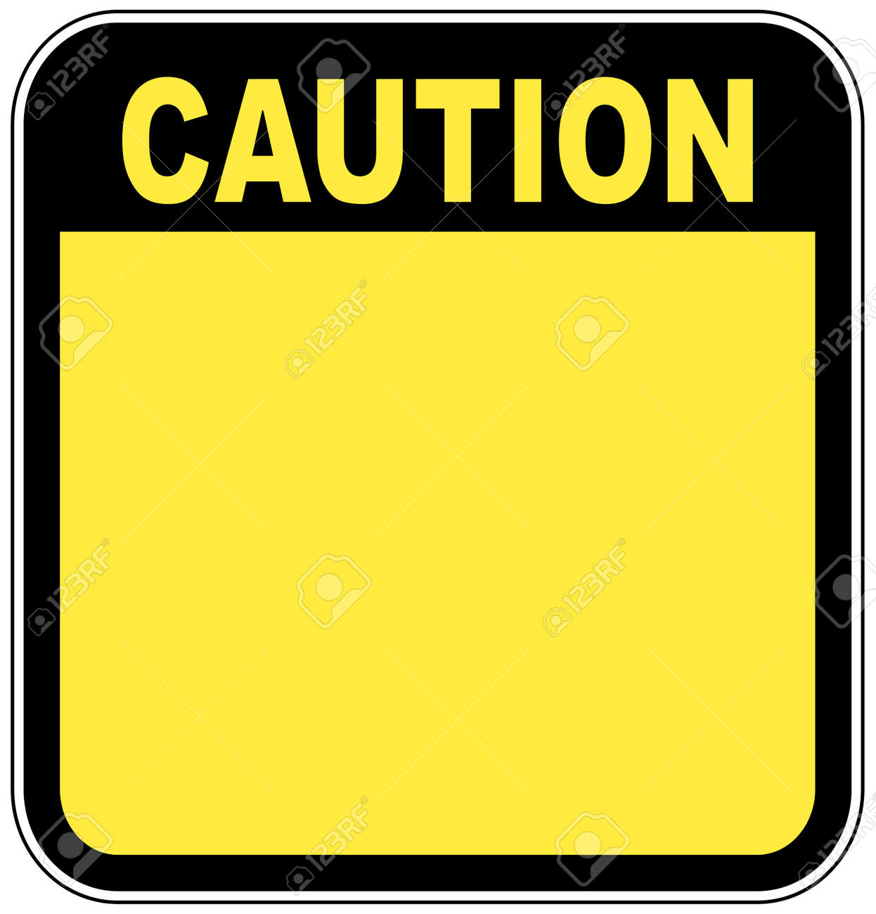 yellow caution sign left blank with room for your own graphic Stock Vector - 3322339