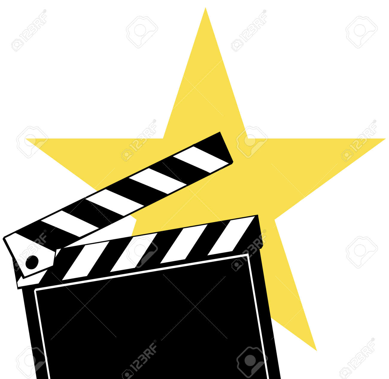 Opened Movie Clapboard Used By Movie Directors With Bright Star ...