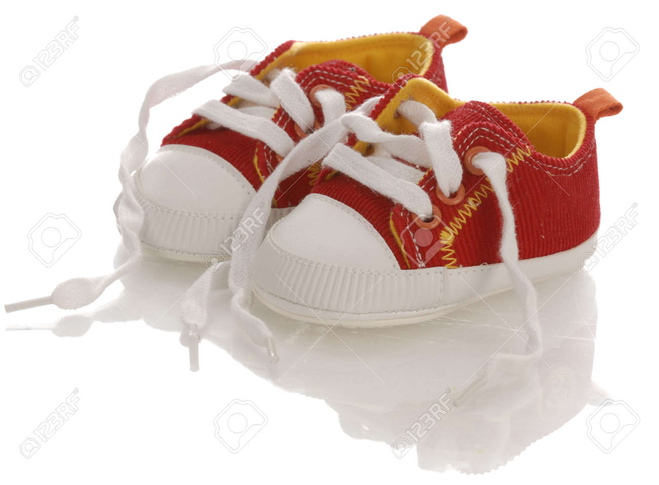 Red Baby On Infant Running Shoes With