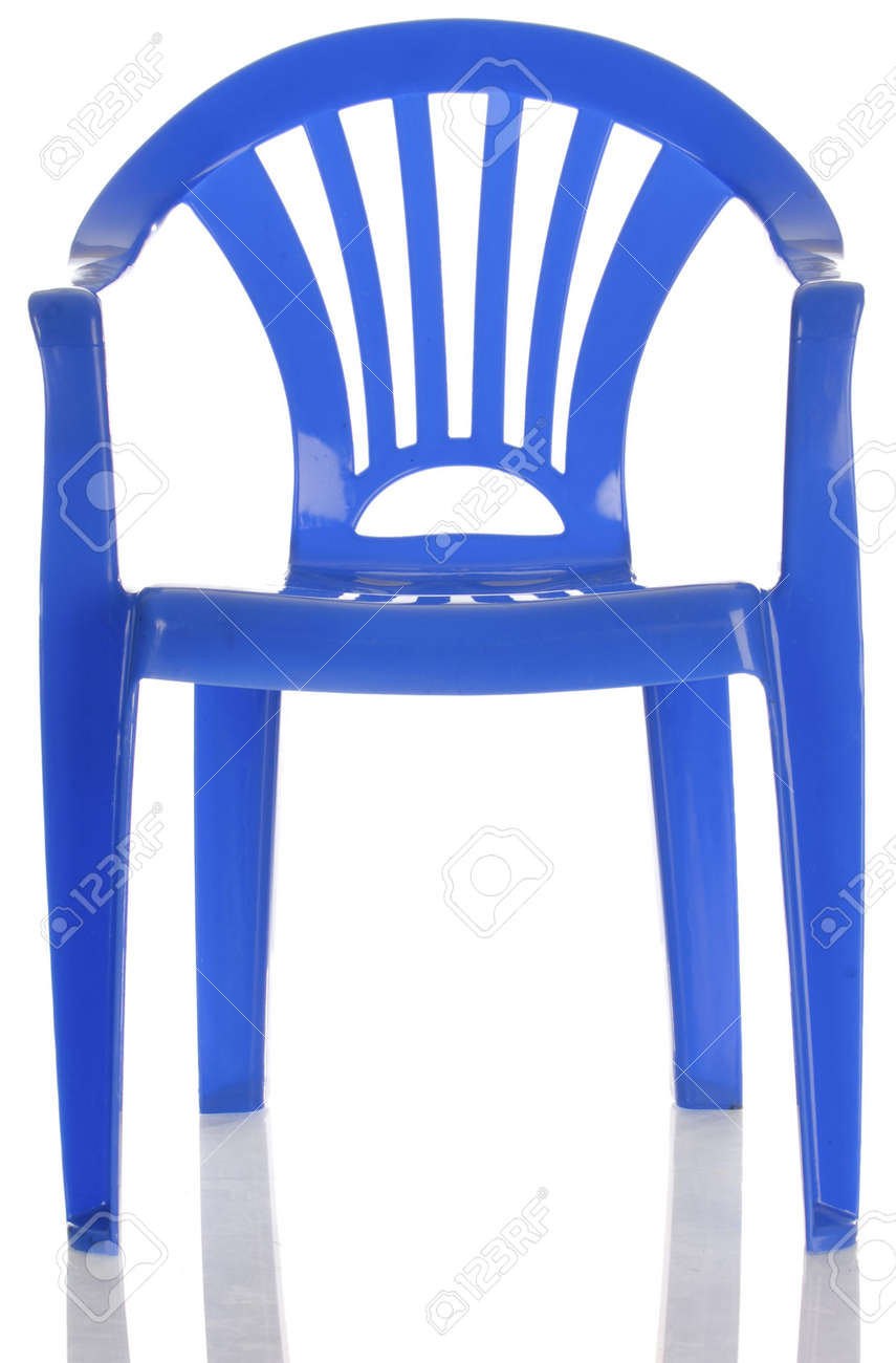 small child chair. Small Child Chair Blue Plastic Child\u0027s With Reflection On White Background