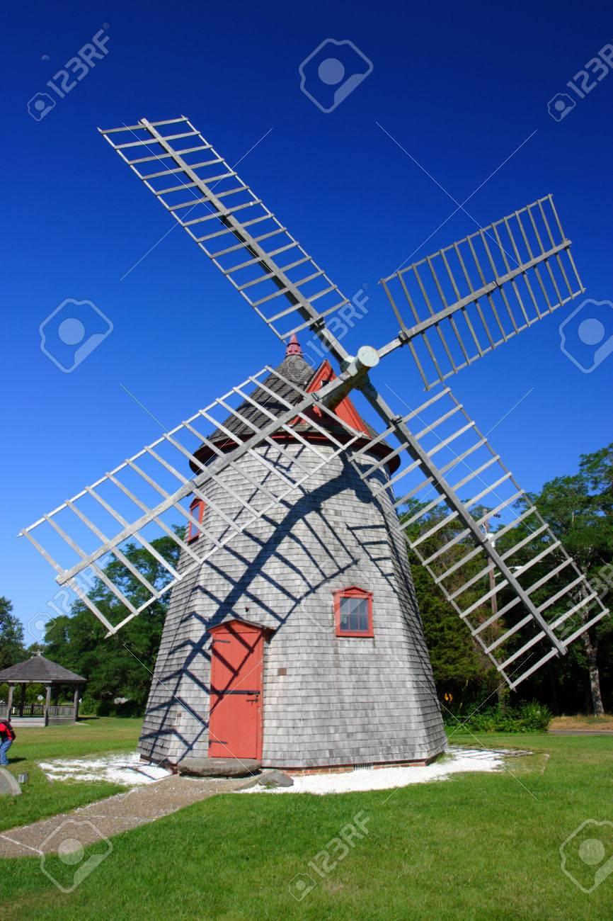 Windmill Cape Cod Part - 39: Eastham Windmill Cape Cod, Massachusetts, USA Stock Photo - 26297952