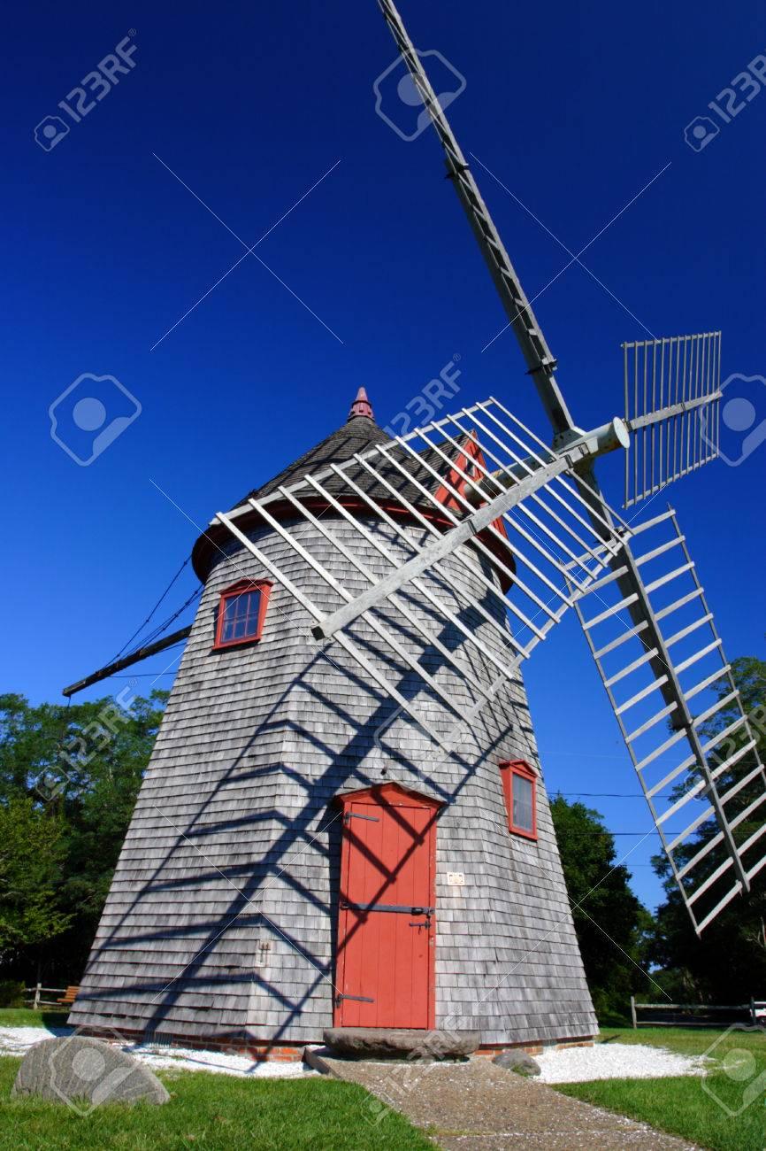 Windmill Cape Cod Part - 50: Eastham Windmill Cape Cod, Massachusetts, USA Stock Photo - 26295017