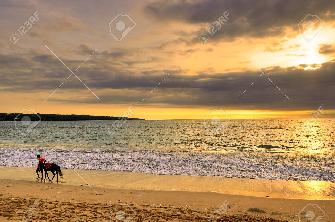 Jimbaran Beach Bali Indonesia Stock Photo Picture And Royalty