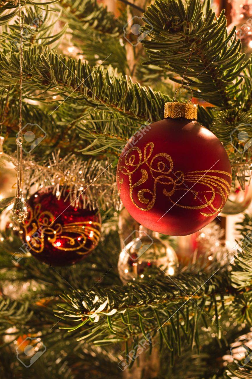 Colorful Image Of Decoration In Christmas Tree In Red Green Stock Photo Picture And Royalty Free Image Image 11126727