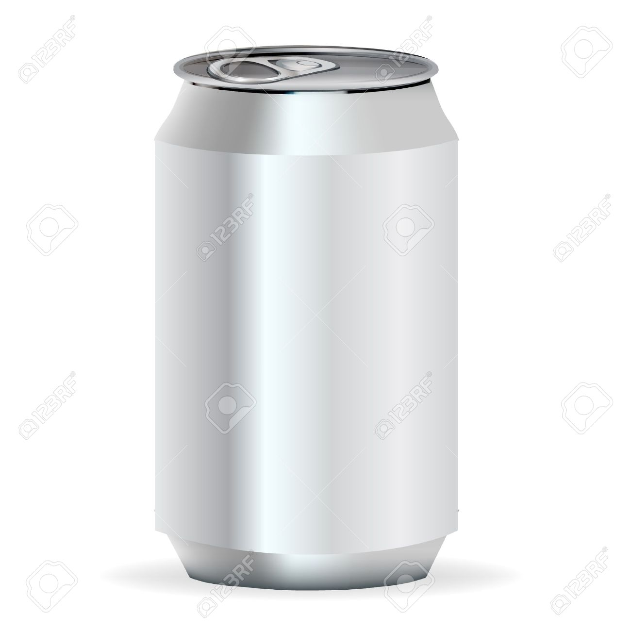 new style 03cbc 713c7 aluminum soda can frontal view Stock Vector - 10838523
