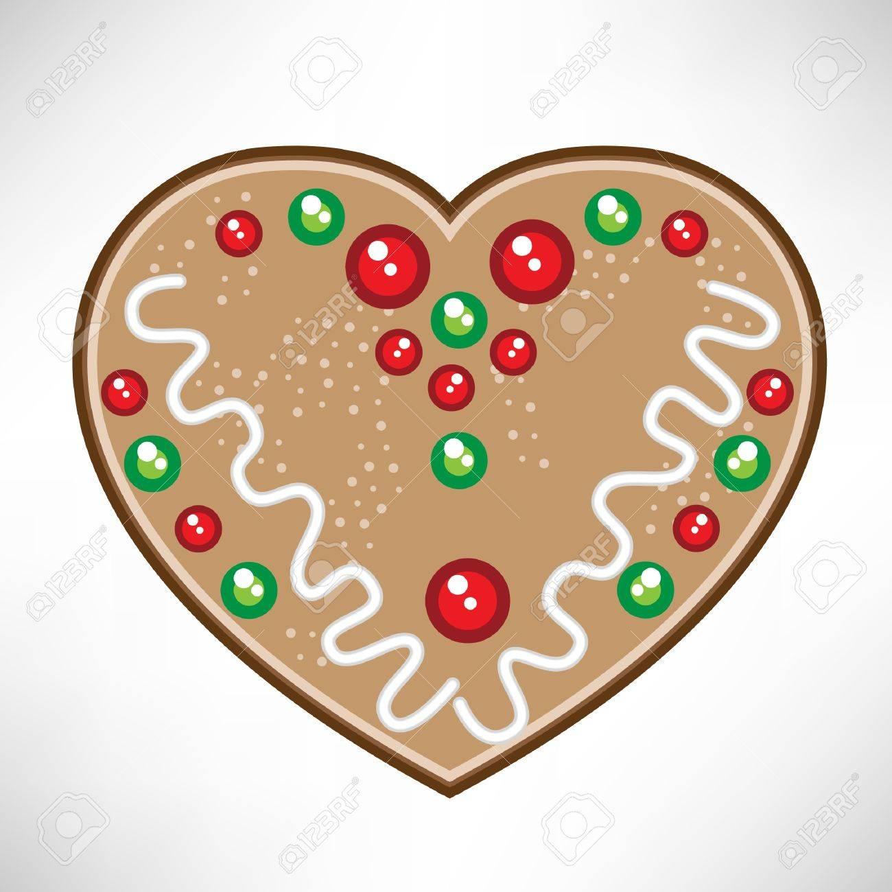 Christmas Heart Vector.Christmas Heart Cookie