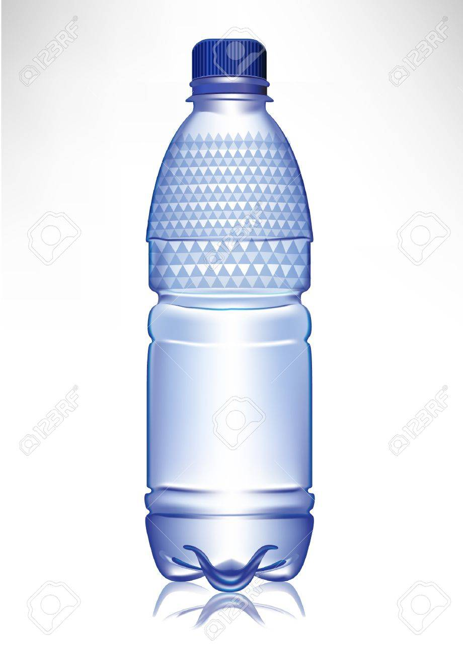 small plastic glass of water with cap and model Stock Vector - 10852075