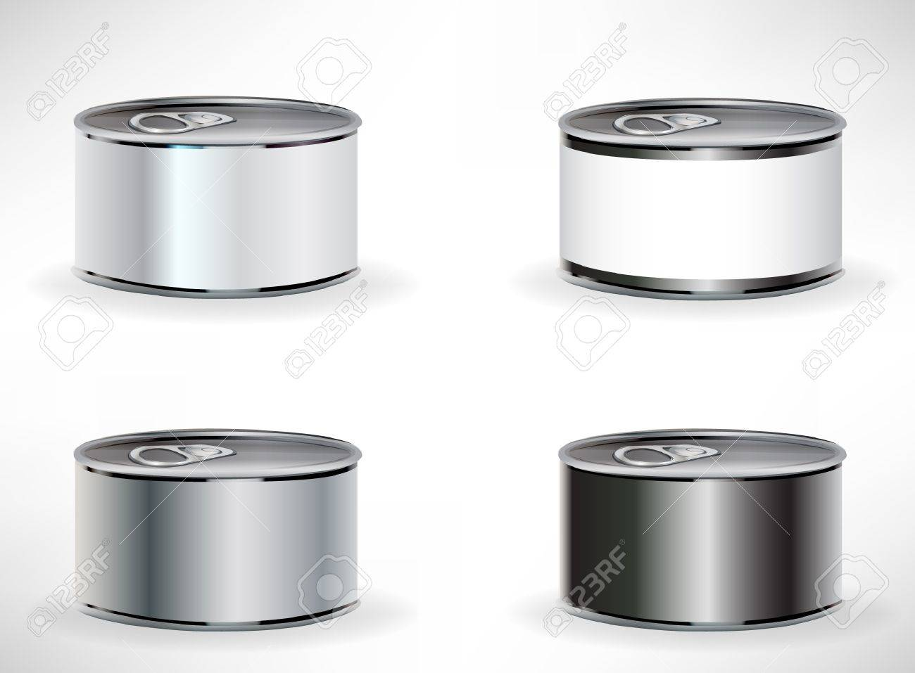 four food cans isolated on white Stock Vector - 10886784