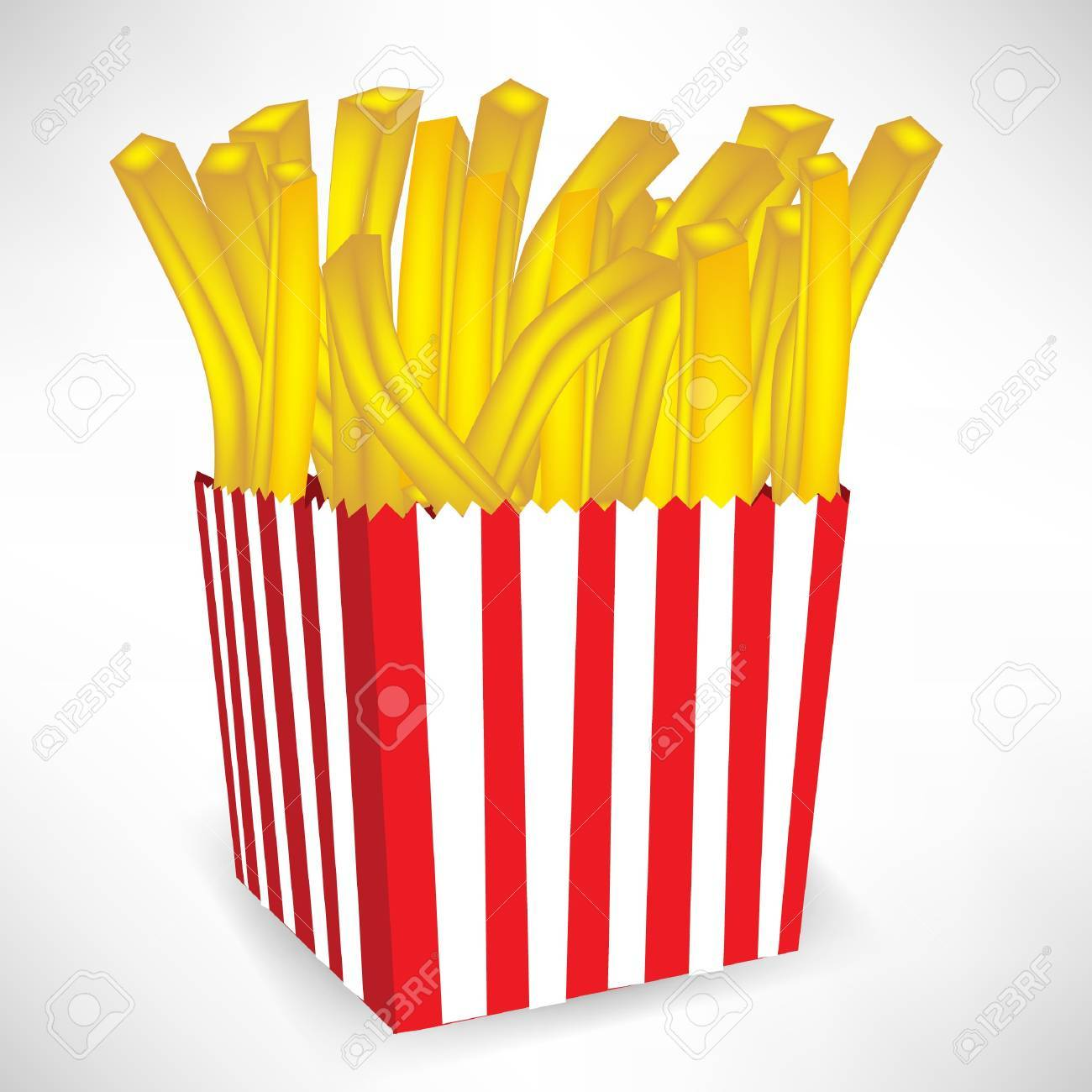 fastfood french fries small portion isolated on white Stock Vector - 10887037