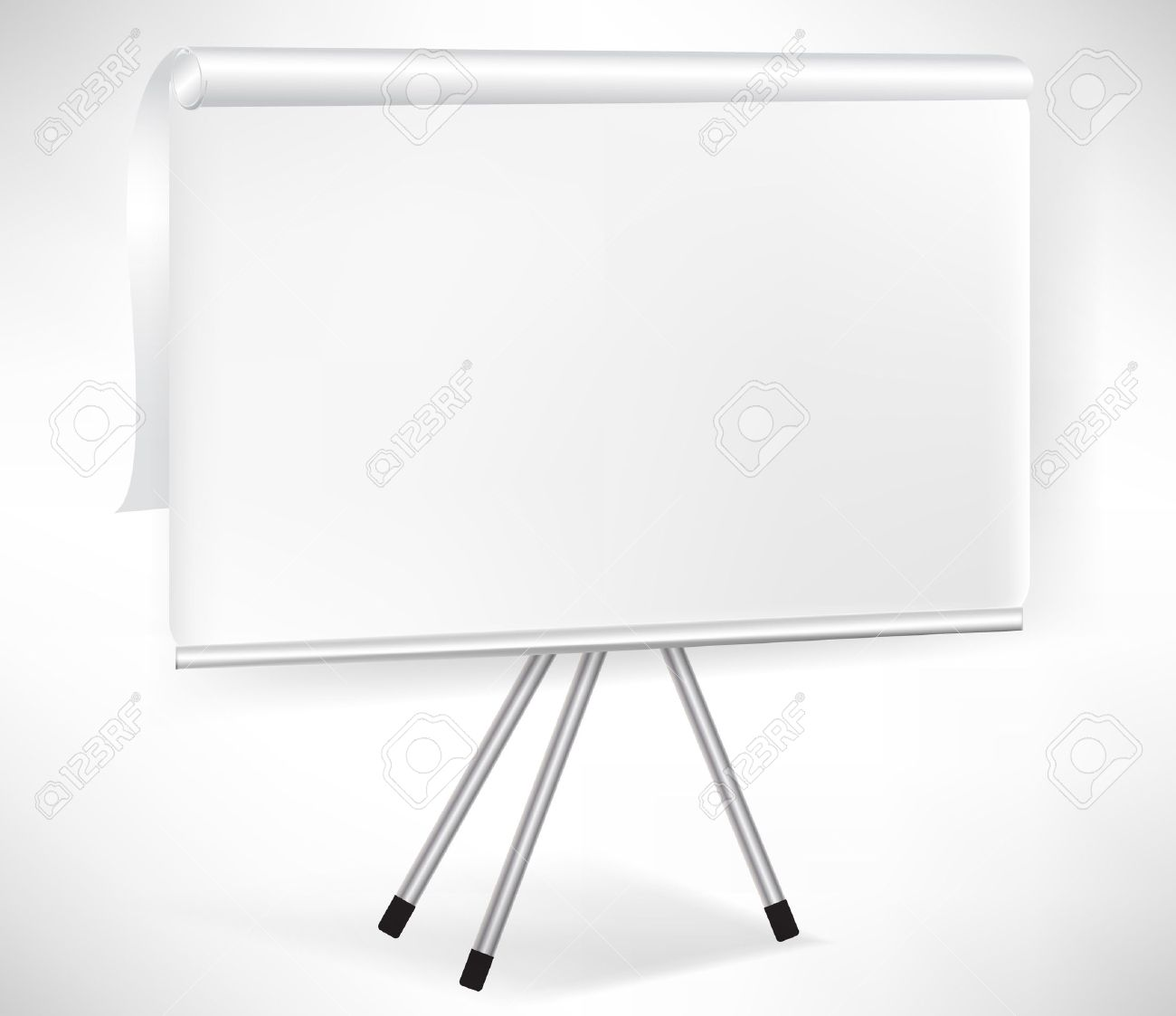 Paper Flip Board With Tripod Isolated On White Royalty Free ...