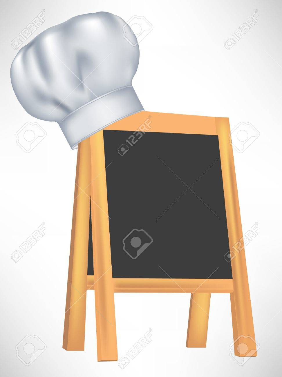 chef hat with black menu board isolated royalty free cliparts