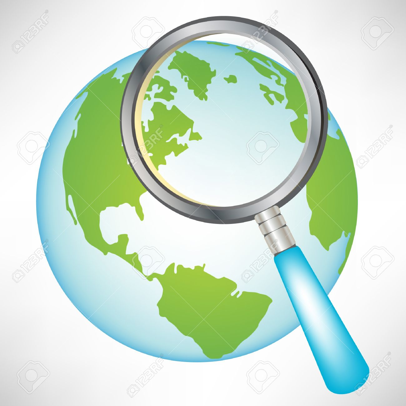 Earth globe with magnifying glass isolated royalty free cliparts earth globe with magnifying glass isolated stock vector 10888213 voltagebd Gallery