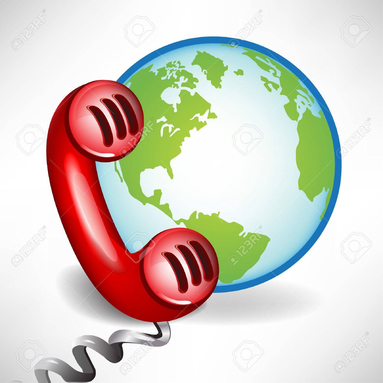 international customer support call center icon isolated on white Stock Vector - 10888195