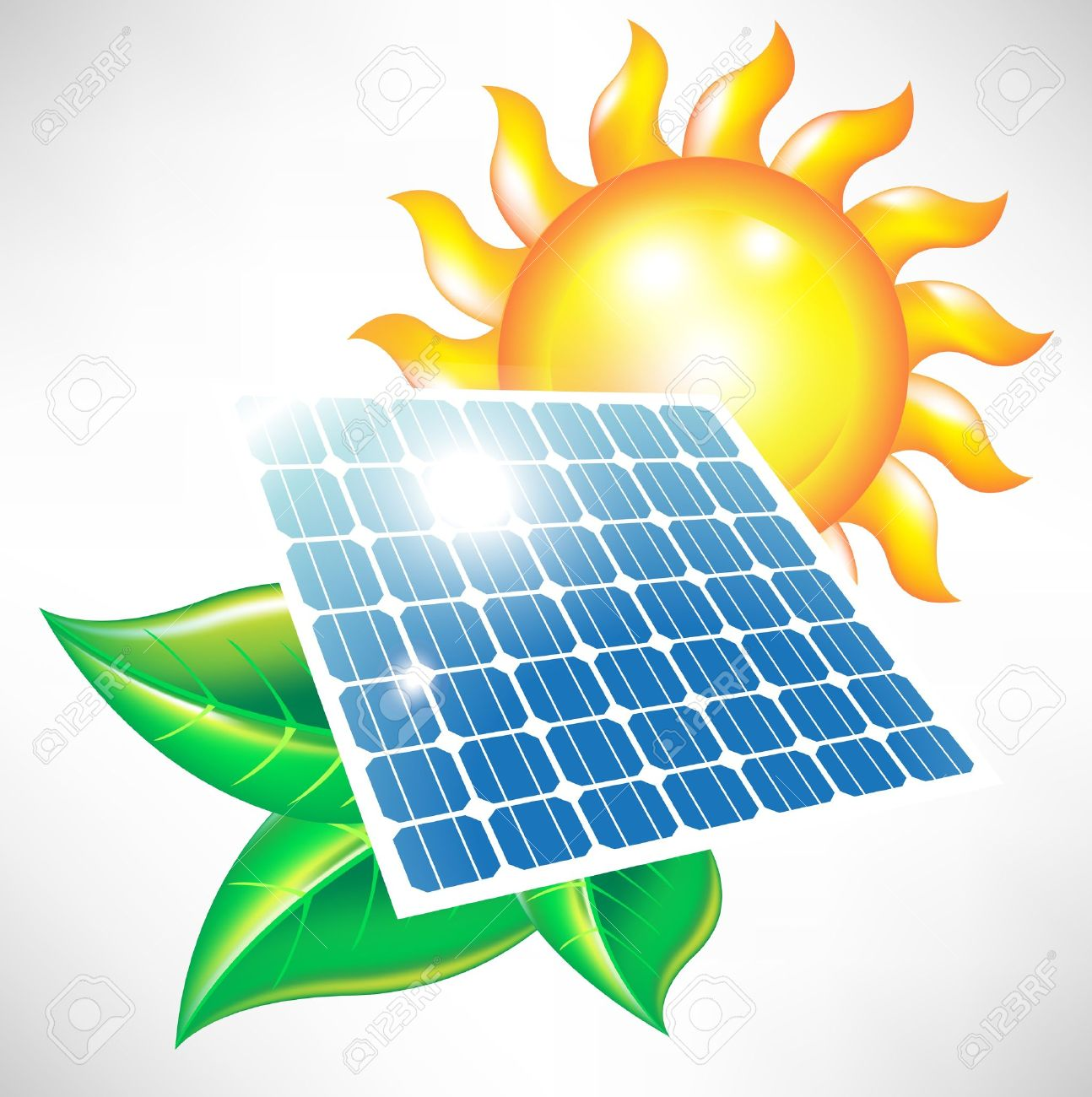 solar energy panel with sun and leaves alternative energy icon rh 123rf com solar energy free clipart solar energy free clipart