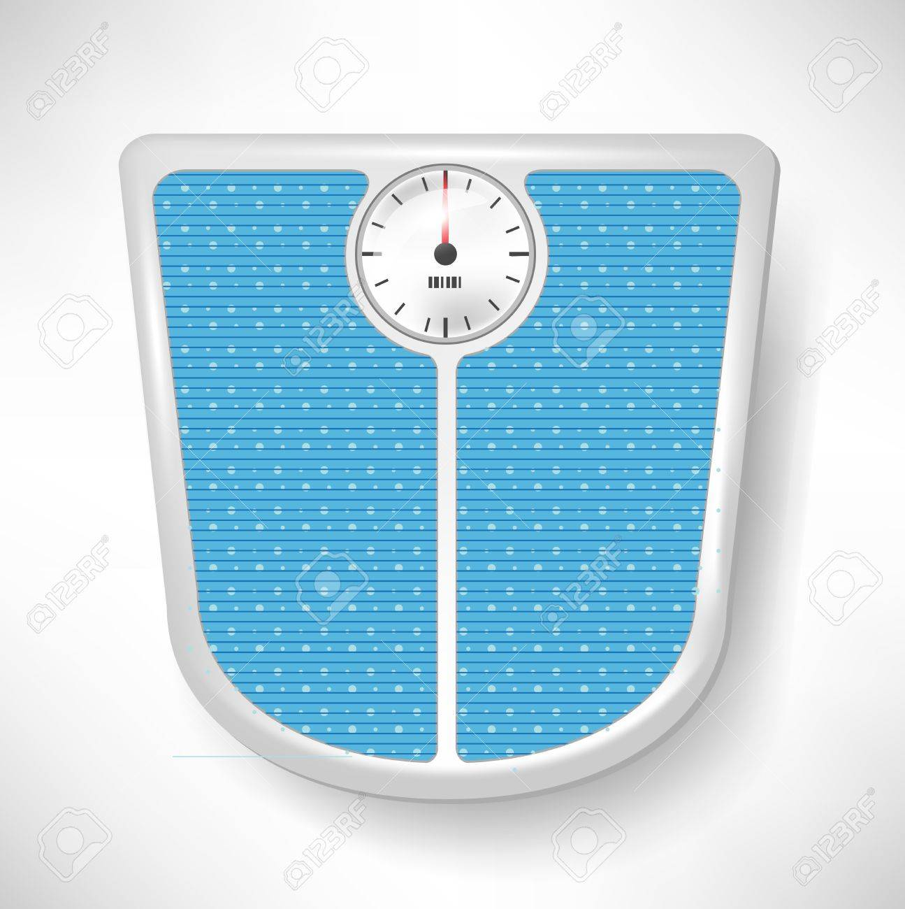 Single Blue Bathroom Weight Scale Stock Vector   10959859