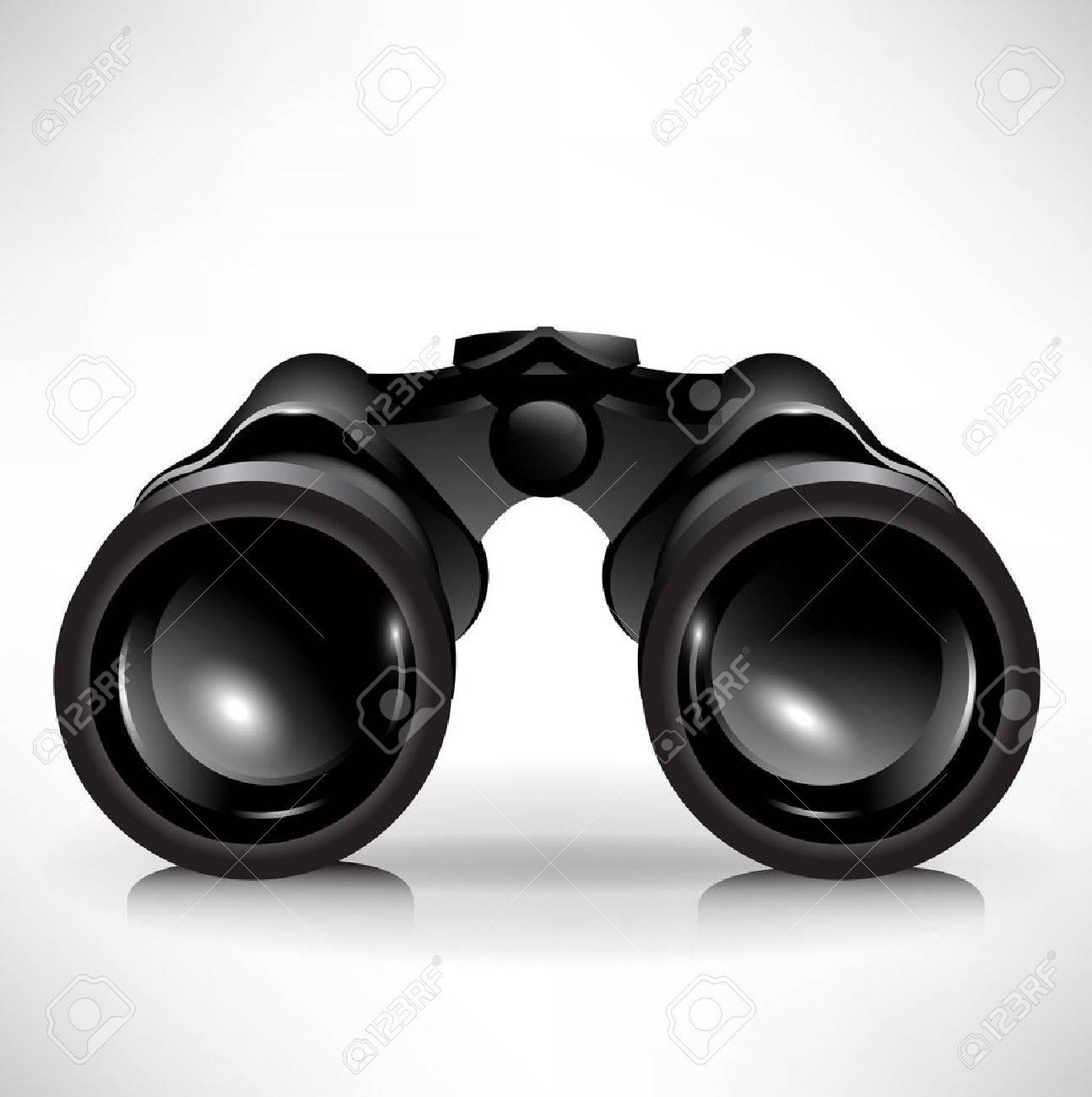 single shinny binoculars icon illustration Stock Vector - 11031658