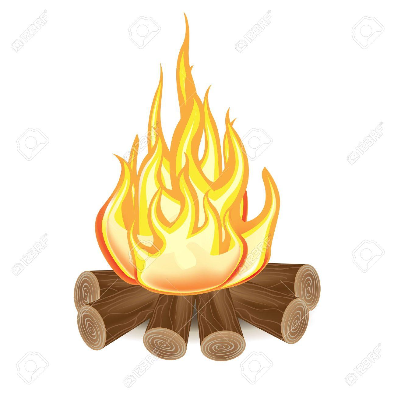 bonfire  single campfi...