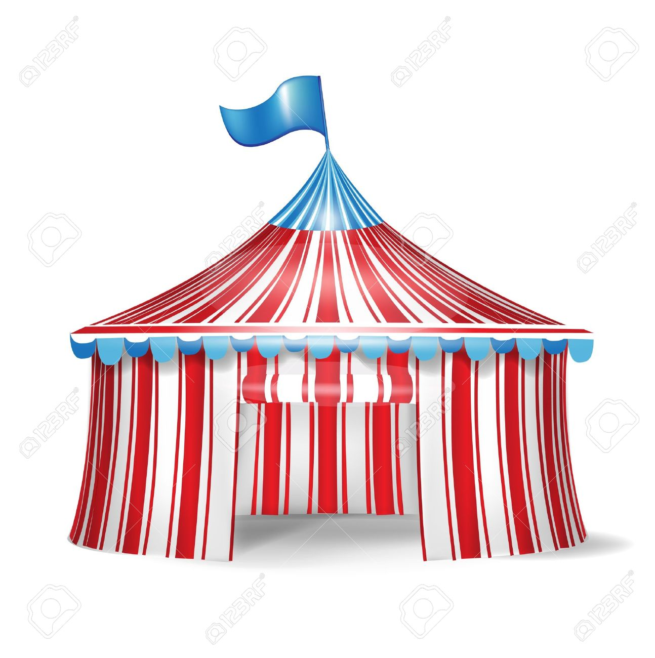 single red and white circus tent Stock Vector - 14554965  sc 1 st  123RF Stock Photos & Single Red And White Circus Tent Royalty Free Cliparts Vectors ...