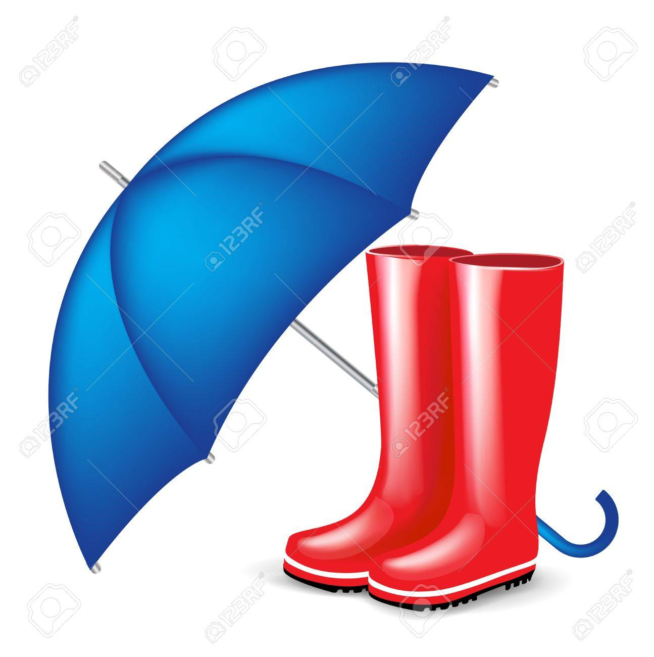 Boots fashion pic boots clip art - Rubber Boots Red Rubber Boots With Blue Isolated