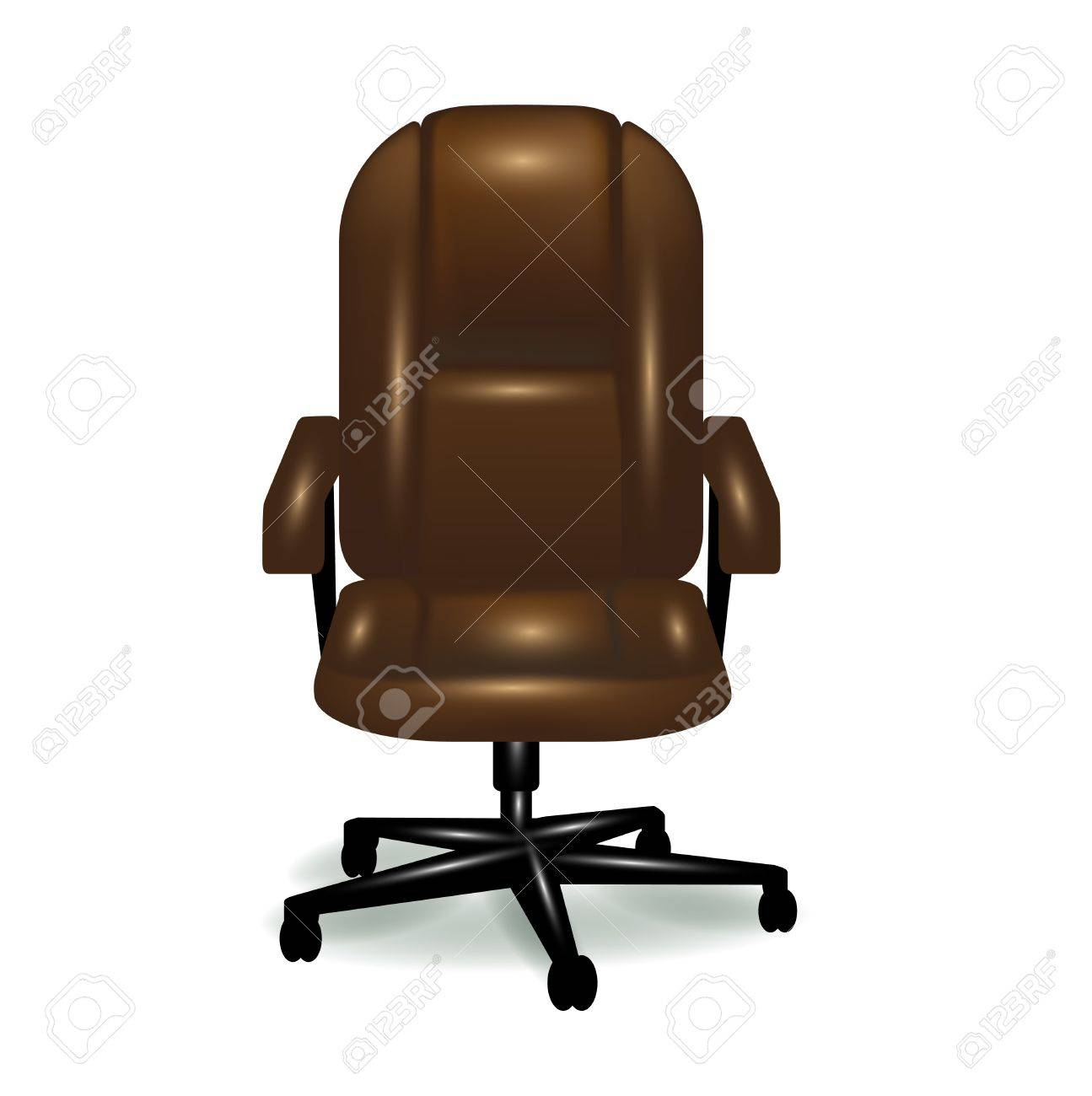 Wondrous Office Ergonomic Brown Leather Chair Isolated Spiritservingveterans Wood Chair Design Ideas Spiritservingveteransorg