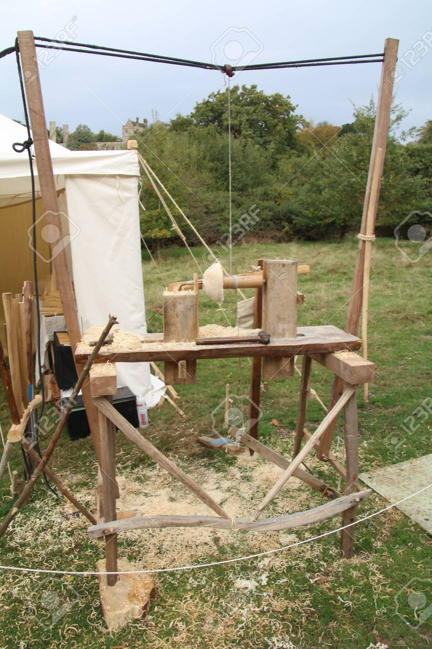 woodturning videos this month Old Treadle Powered Wood Turning Lathe