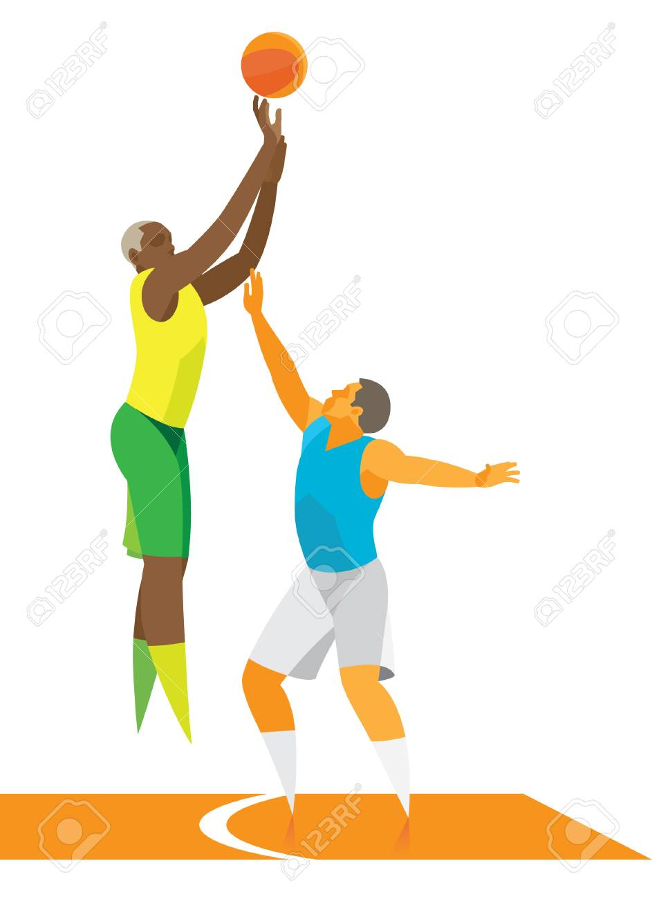 Young basketball small forward attack ring