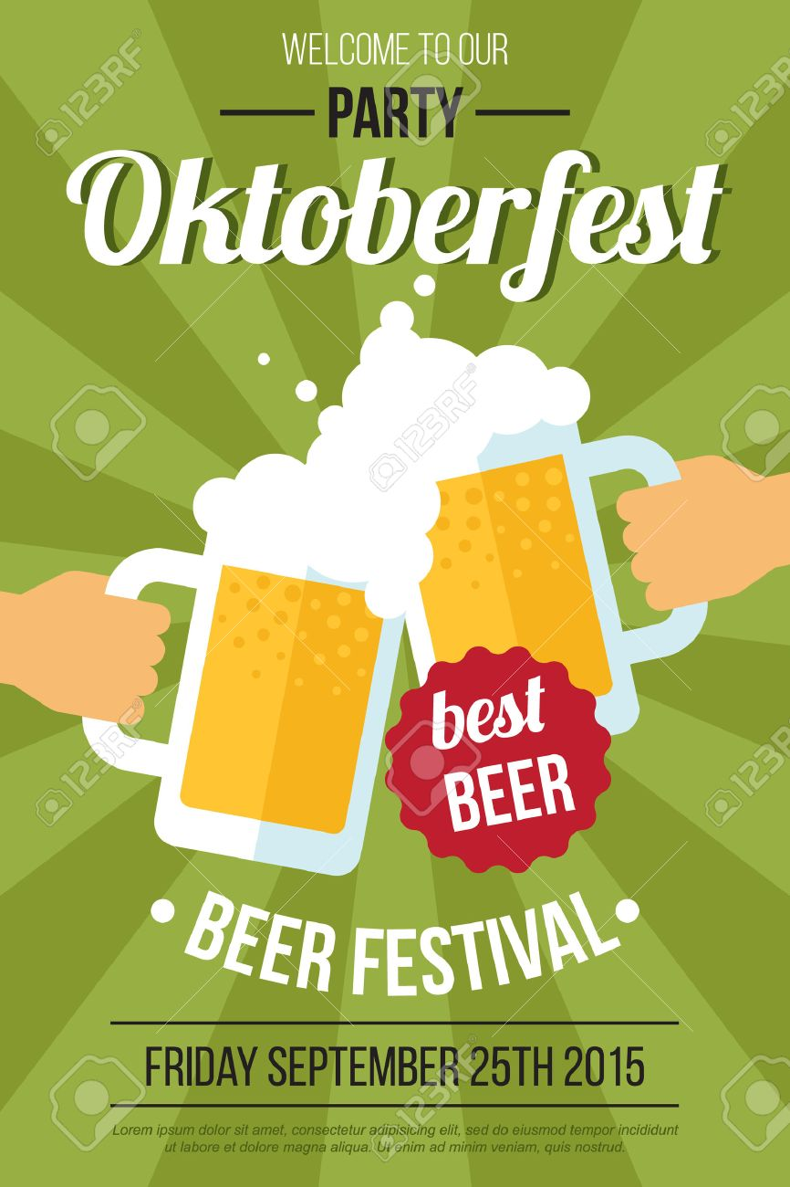 Vector oktoberfest beer festival poster or flyer template flat vector oktoberfest beer festival poster or flyer template flat style stock vector 53441912 pronofoot35fo Gallery