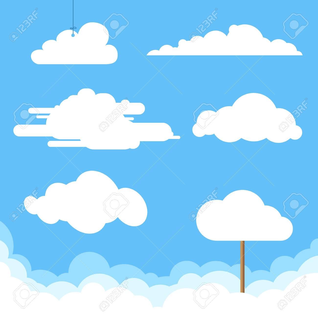 flat design clouds collection vector illustration royalty free rh 123rf com cloud vectors illustrator cloud vectors illustrator