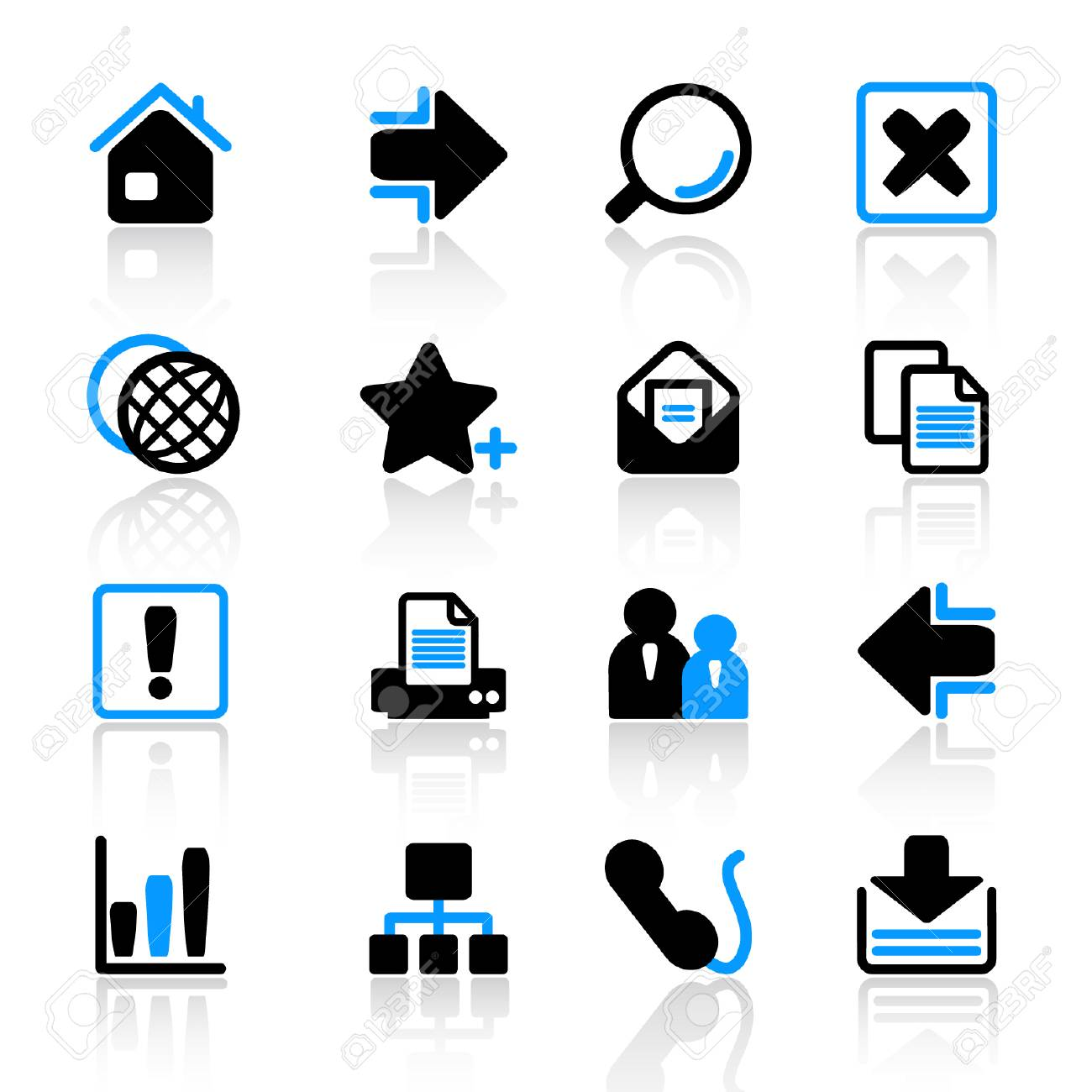 web icons Stock Vector - 5041910