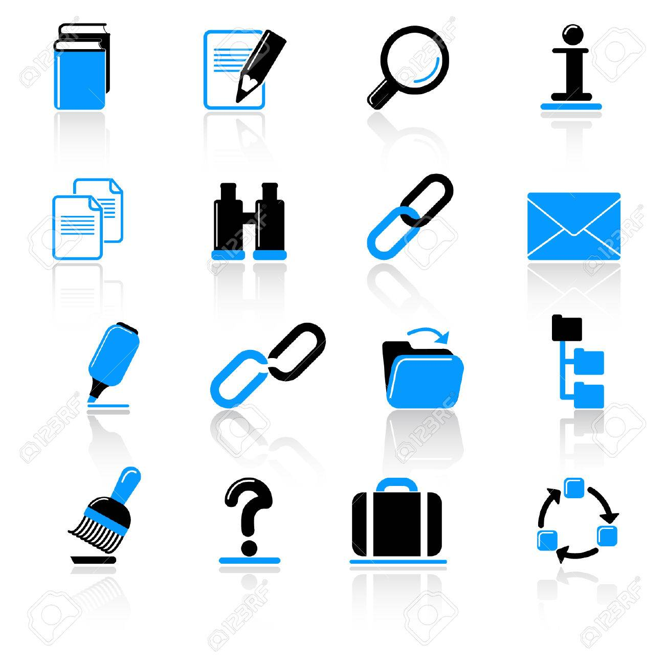 Office icons Stock Vector - 5249163